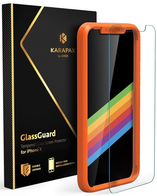 【iPhone XS&X用】Anker KARAPAX GlassGuard