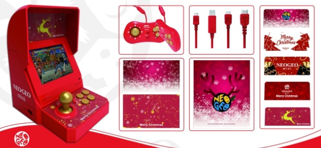 「NEOGEO mini」にクリスマス限定版が登場!周辺機器を全部コミコミで、インターナショナル版未収録の作品も収録