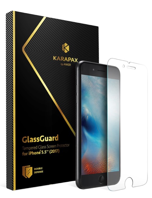 Anker KARAPAX GlassGuard iPhone 8 Plus &7 Plus 用