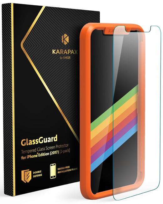 Anker KARAPAX GlassGuard iPhone X 用