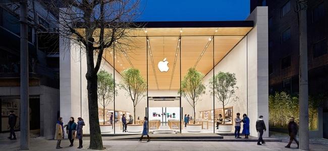 「Apple 福岡天神」のリニューアルはほぼ確実か。工事中店舗の外観が海外の直営店と酷似