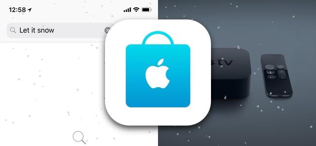 Apple Store公式アプリで画面内に雪を降らせられるイースターエッグが発見される。