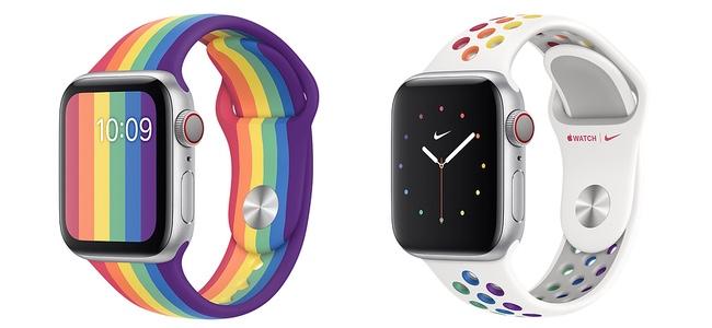 Apple Watch純正バンドでレインボーフラッグをイメージした新しい「プライドエディション」スポーツバンド2モデルが発売。スポーツバンドタイプ&Nikeモデルは初
