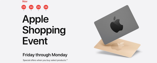 Appleが海外でブラックフライデーセールを開始。日本では行われないが代わりに年始の初売りセールが行われるはず