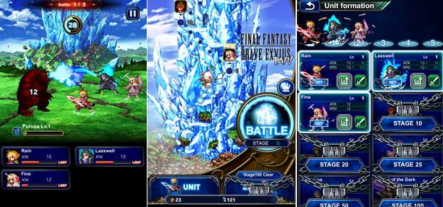 スマホでもPCでもFacebook上で遊べる簡単なFFBE、「FINAL FANTASY BRAVE EXVIUS TAP!」がリリース。
