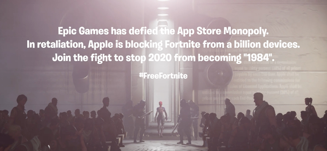 「Fortnite」がApp Store、Google Playから削除。課金手数料をめぐる対立の結果。アプリ提供元のEpic Gamesは有名なAppleのCMのパロディを作りゴリゴリに喧嘩腰