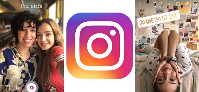 Instagramで写真の顔周辺をぼけさせる「フォーカス」機能と他のユーザーアカウント名をステッカーにして付けられる「メンションステッカー」が追加