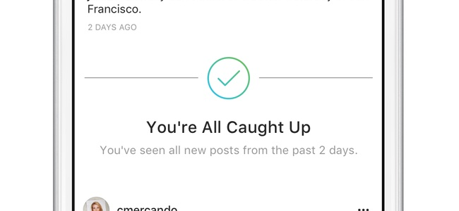 Instagram、フィード2日分の投稿全てを見ている場合に閲覧済みである旨のメッセージが表示されるように