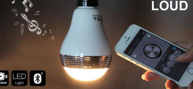 iPhoneの音楽が電球から流れてくる…。スピーカー搭載のスマート電球「PLAYBULB」