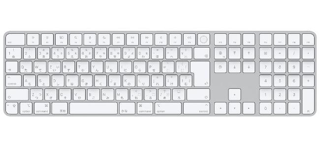 M1搭載の新型iMacの同梱でしか手に入らなかった「Touch ID搭載Magic Keyboard」の単体販売が開始。テンキー付きタイプも登場