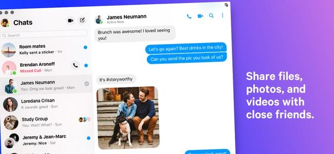 FacebookがMac向けのMessengerアプリをリリース