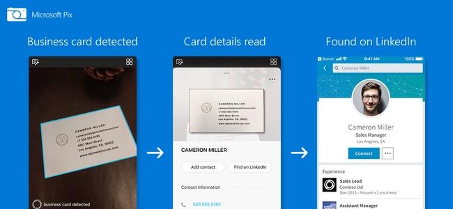 人気の無音カメラアプリ「Microsoft Pix」がアップデートで名刺の内容まで含んだ自動認識とさらに連絡先やLinkedInへの連携までも可能に