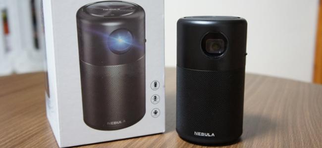 Ankerから最強のプロジェクター「Nebula Capsule」が発売。Android入りだから単体でYouTubeやNetflixも見れちゃうしHDMI入力でも使え、スマホ画面を無線接続で映し出すことだって可能!