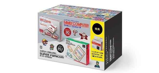ニンテンドークラシックミニのファミコンとスーパーファミコンがセットになった「ニンテンドークラシックミニ ダブルパック」が発売される模様