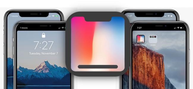 iPhone Xの凹部分、ノッチを隠すデザインの壁紙が作れるアプリ「Notch Remover」が登場