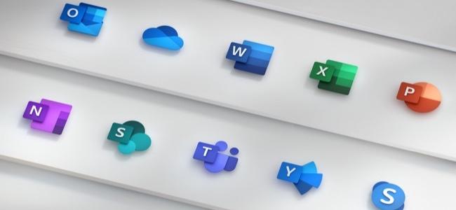 MicrosoftがOffice各アプリの新アイコンを発表。白いアウトラインを廃し、色の濃淡で各アプリのデザインを表現したものに