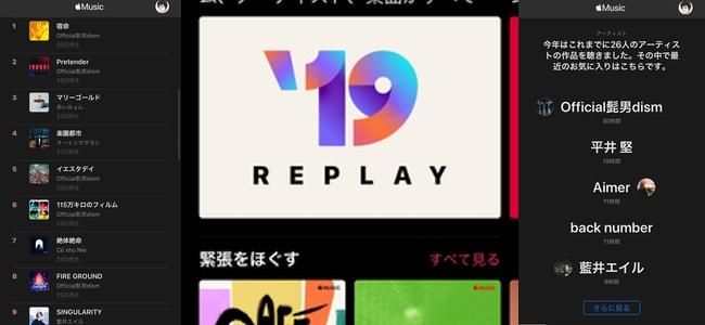 Apple Musicが各ユーザーが今年よく聞いた曲で自動的にランキングを生成する「REPLAY」機能を提供開始