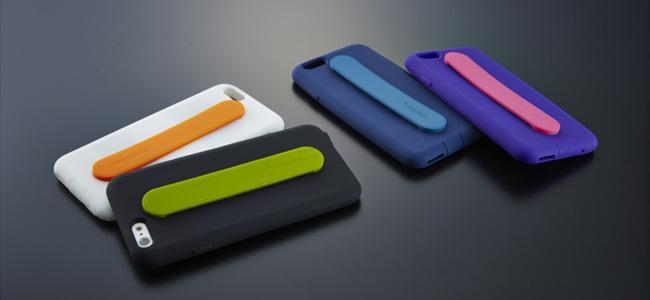 片手操作もラクラク!グリップバンド付きでiPhone 6/6 Plusをがっちりホールドできる「カードポケット&背面グリップバンドシリコンケース」