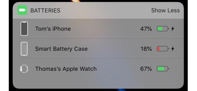 iPhone XS向け「Smart Battery Case」の発売はほぼ確実か。iPhoneにケースを接続した際の新しいアイコンがウィジェット内で確認される