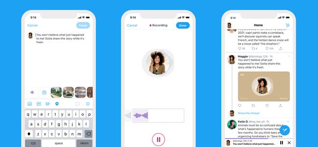 Twitterが、投稿時に音声を録音・添付してのツイートができるように