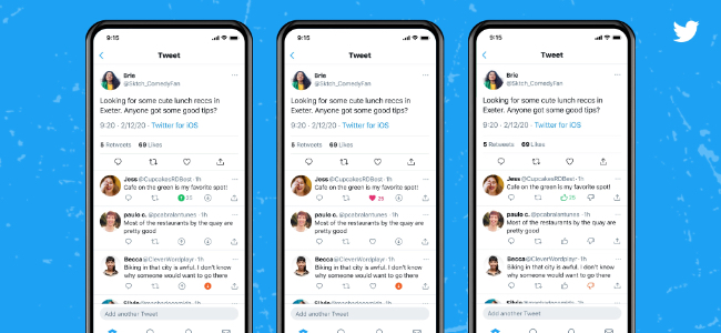 Twitterが「低評価(よくないね)」ボタンのテストを実施中