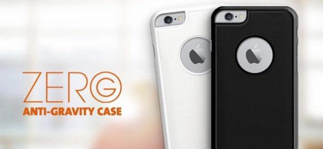 いろんなところにピタッとくっつくiPhoneケース「Zero G」が便利そう