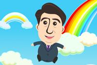 自民党公式iPhoneゲーム「あべぴょん」が雲を突き抜ける面白さ!