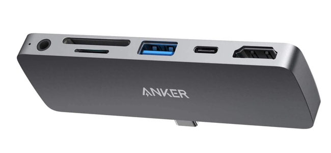 AnkerがiPad Pro向けに、USBやHDMI端子、カードリーダーなど各種拡張ポートを備えた「PowerExpand Direct 6-in-1 USB-C PD メディア ハブ」を発売開始