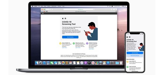 Appleが米公式サイトで新型コロナウィルス(COVID-19)の自己診断ページを公開、アプリでも展開