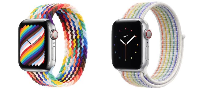 Apple Watchバンドに新しいプライドエディションが追加、ブレイデッドソロループとNikeスポーツループの2種類