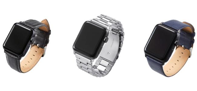 エレコムがレザーとステンレスからなる計3タイプのApple Watch専用バンドを5月下旬より発売!