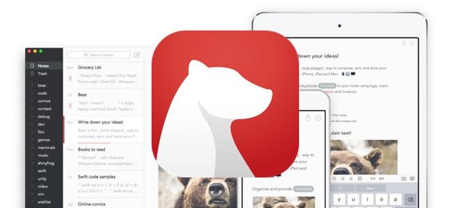 テキストエディタアプリ「Bear」がアップデート。Apple Watchに対応で声による入力やiPadで使える新機能ドロップバーが追加