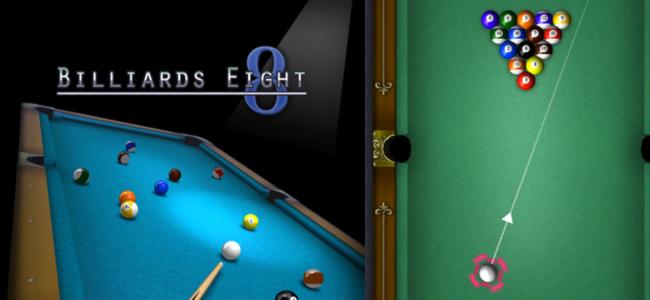 8ボールとミッションモードが楽しめる本格派ビリヤードゲームの続編!「ビリヤード8」