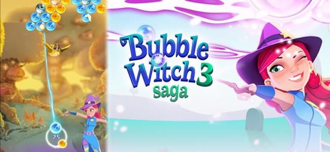 「バブルウィッチ3」リリース!今回は消すだけじゃダメ!隙間で道を作ったり、囚われた鳥を助けたり新しい遊び方が盛り沢山!