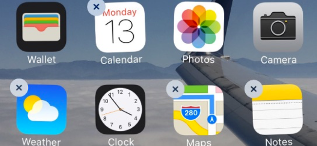 iOS 10で使える純正アプリの削除機能はアンインストールではなく非表示らしい。