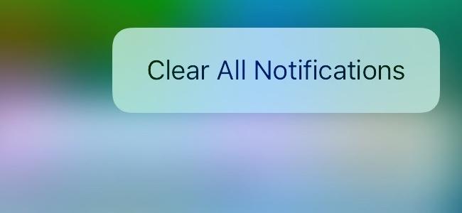 iOS 10では待望の「全ての通知をまとめて消す」ができるぞぉぉぉ!