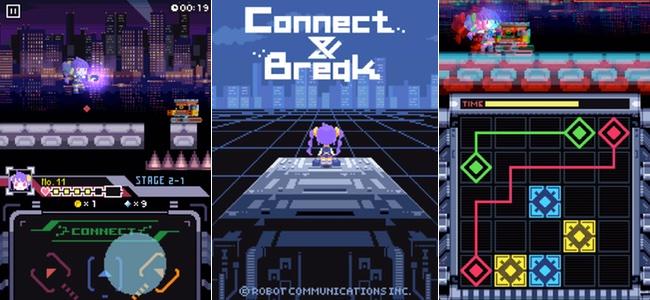 横スクロールアクションを進みパズルで敵やギミックを突破。人間とロボットが対立する世界で復讐の幕が開く「Connect & Break」
