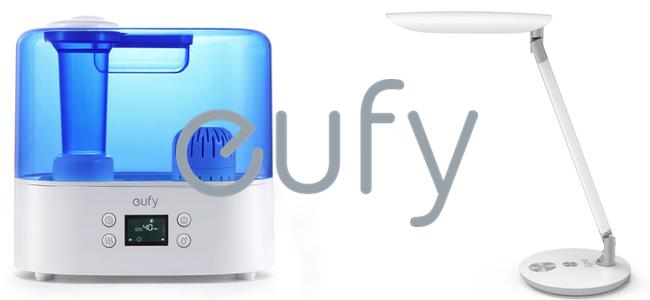 Anker家電ブランドeufyから充電ポート付きLEDデスクライト「Lumos E1」と 最大26時間使える超音波加湿器「Humos Air」発売!