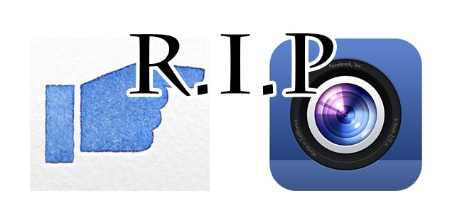 Facebookの「Poke」と「カメラ」がAppSotreから消えた!あ、そんなのあったんですねってお話