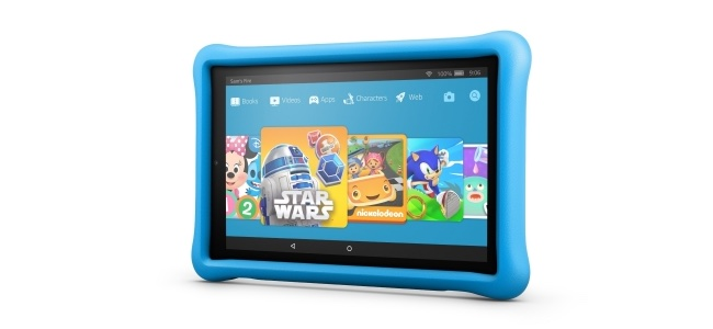 米Amazonが子供向けタブレット「Fire HD 10 Kids Edition」を発表。厚めのバンパーで本体を保護、子供向けの本や動画、アプリが見放題使い放題の権利が1年分付き