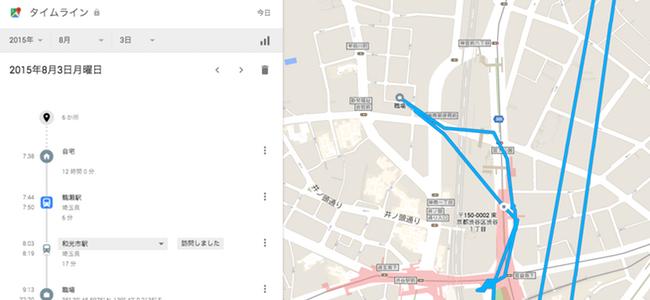 スマホを持ってるだけで自分の移動履歴が丸わかり!Googleマップに「タイムライン」機能が追加!
