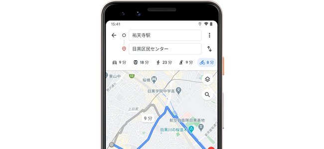 Google マップにて、国内10都道府県で自転車ルートが使用可能に