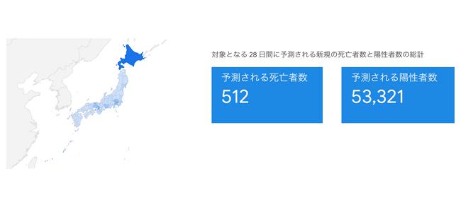 GoogleがCOVID-19 (新型コロナウイルス感染症) 感染予測サイトの日本版を公開