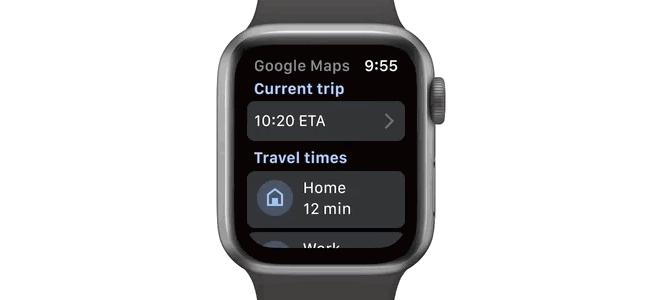 「Google マップ」のApple Watch用アプリがアップデートで復帰