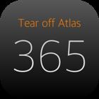 Tear off Atlas -地図グラフィックのカレンダー-