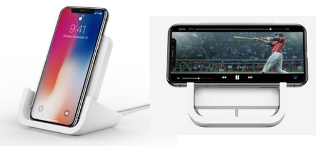 ロジクールがAppleと共同開発、縦横置き両対応のワイヤレス充電スタント「POWERED iD20」を発表