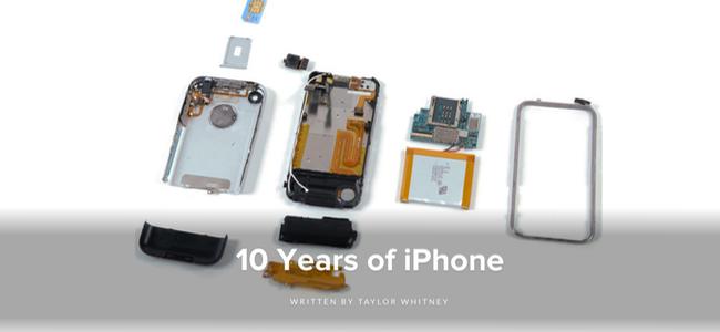 iPhoneの分解にも10年の歴史。iFixitがiPhone発表10周年を記念して全機種の分解レポートのまとめを掲載