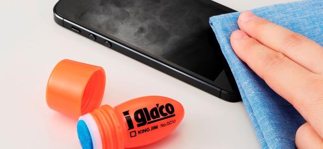 あのガラコをiPhoneにも!キングジムがスマホ用タッチパネルコーティング剤「iガラコ」を発表