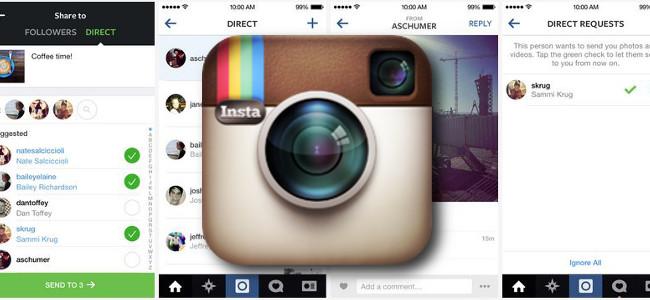 Instagramに写真+チャットが出来るダイレクトメッセージ機能が追加!