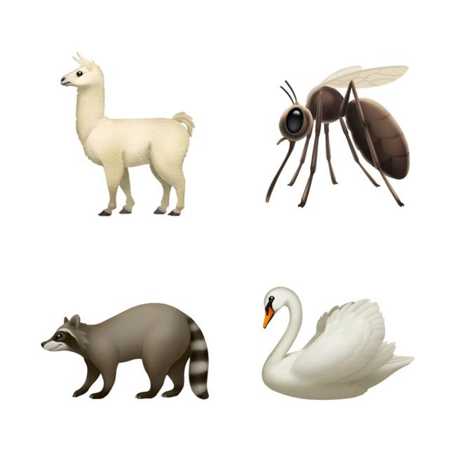 ios-121-emoji-update-llama-mosquito-swan-raccoon-10012018